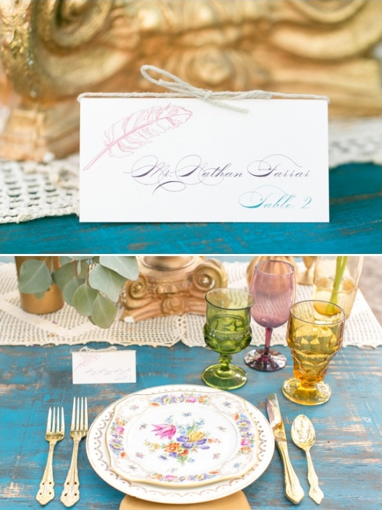 feather escort card