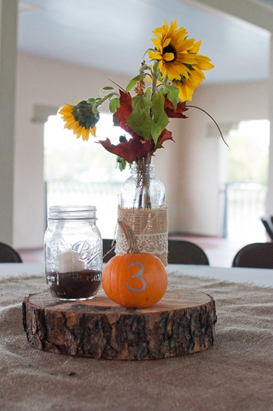 painted pumpkin table number ideas