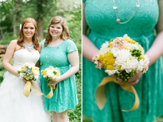 teal maid of honor dress