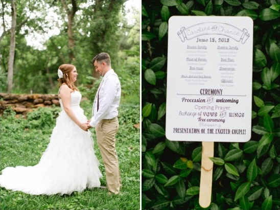 popsicle stick wedding program