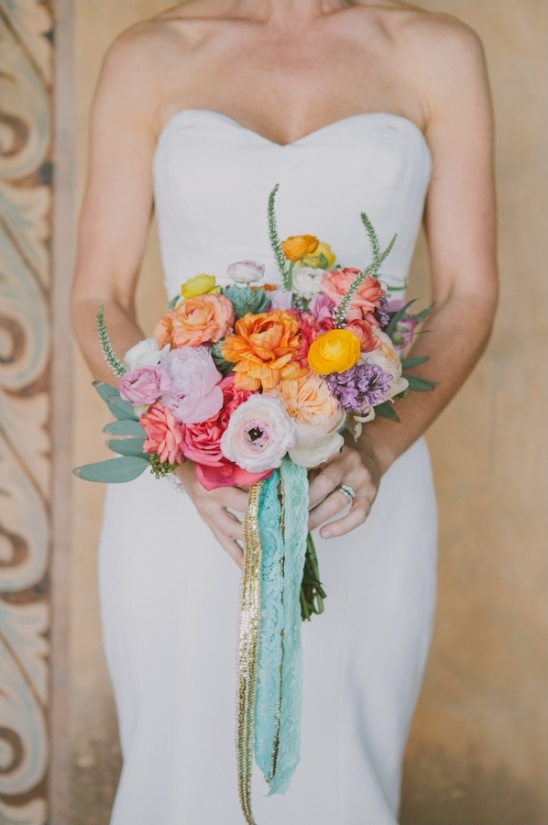 colorful wedding bouquet by primary petals