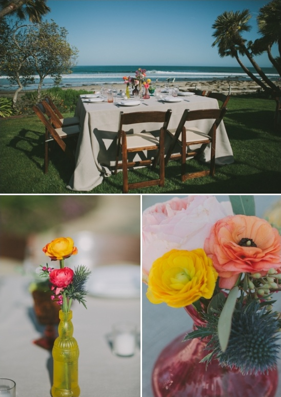 laid back rustic wedding florals
