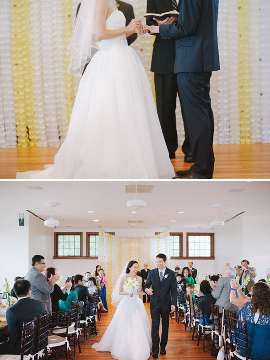Simple And Sweet Wedding In White And Yellow