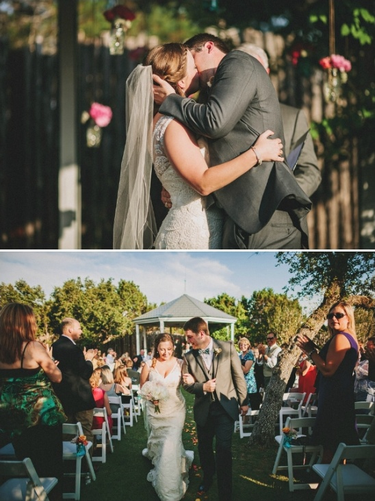 outdoor wedding ceremony at star hill ranch