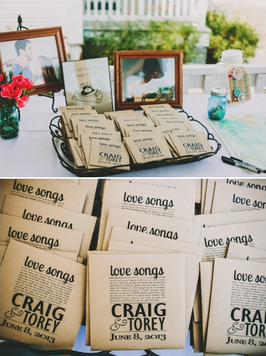 love song cd wedding favors