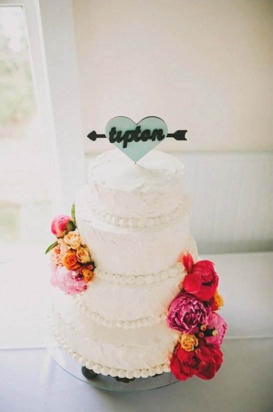 heart and arrow cake topper