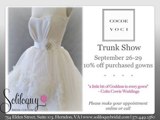 Cocoe voci trunk show poster