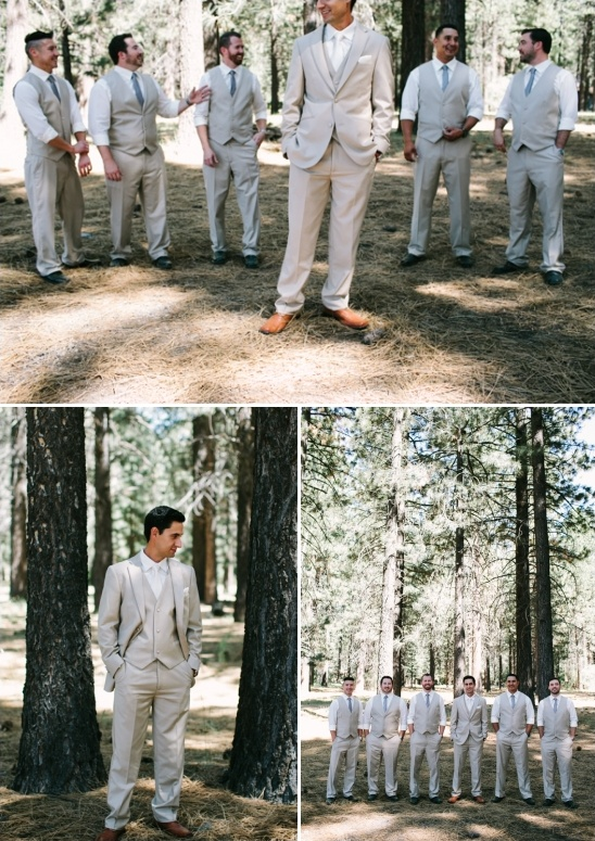 beige and gray looks for the groom