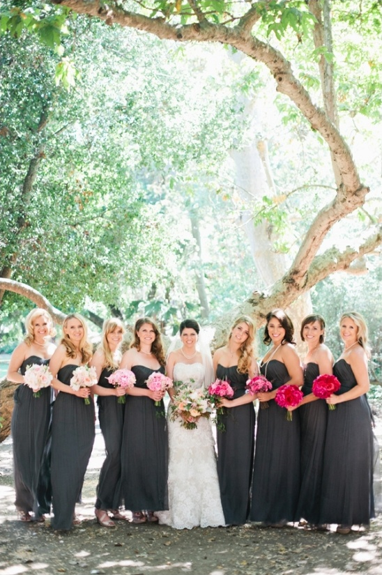 dark gray bridesmaid dresses
