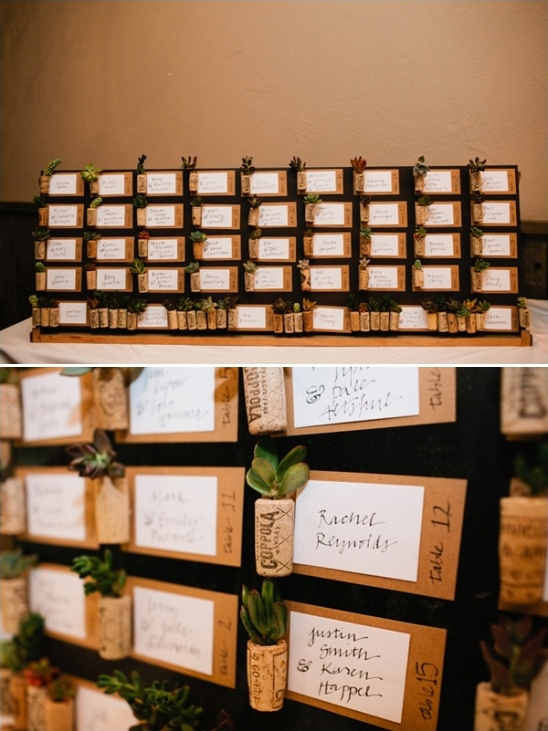 succulent wedding favor escort cards
