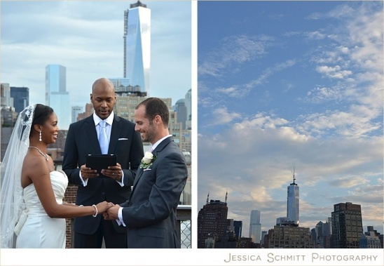 NYC wedding with view