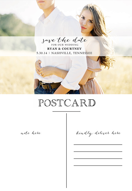 Photo postcard save the date free printable free ave the date postcard pronofoot35fo Images