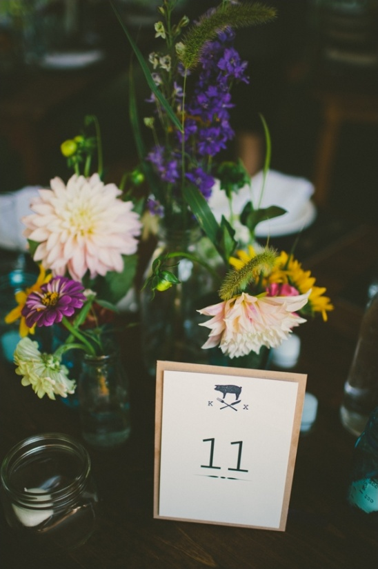 backyard wedding table number ideas