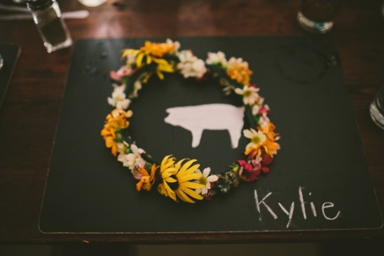 chalkboard wedding placemat