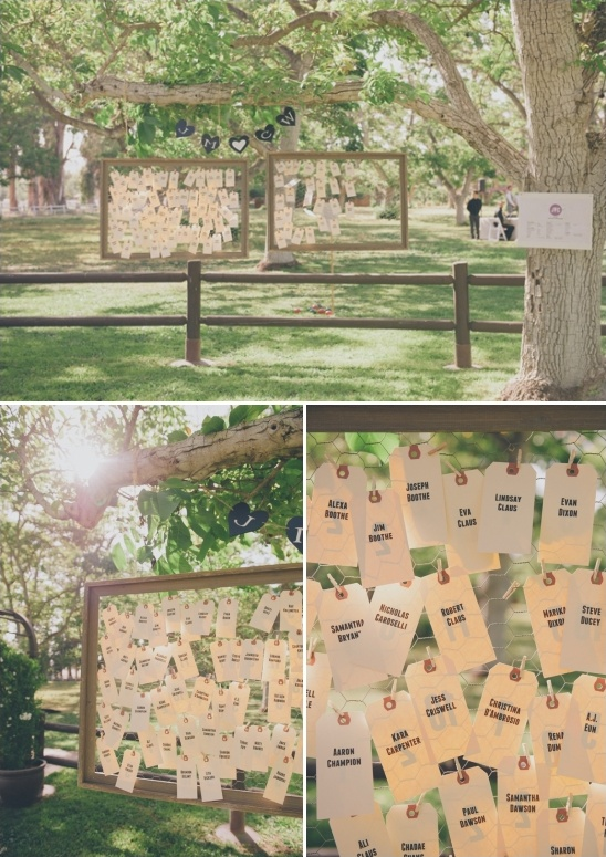 paper tag escort card ideas