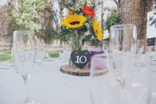 chalkboard heart table number ideas