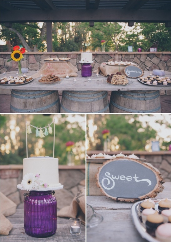rustic outdoor dessert table ideas