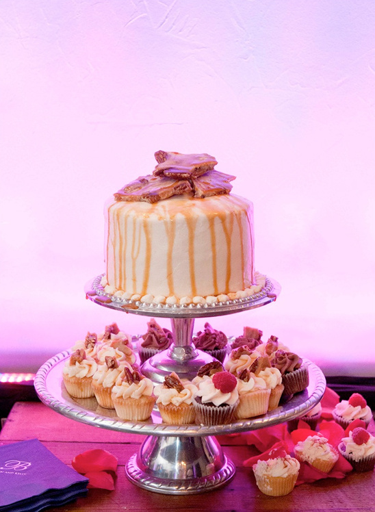 uplighting on cake