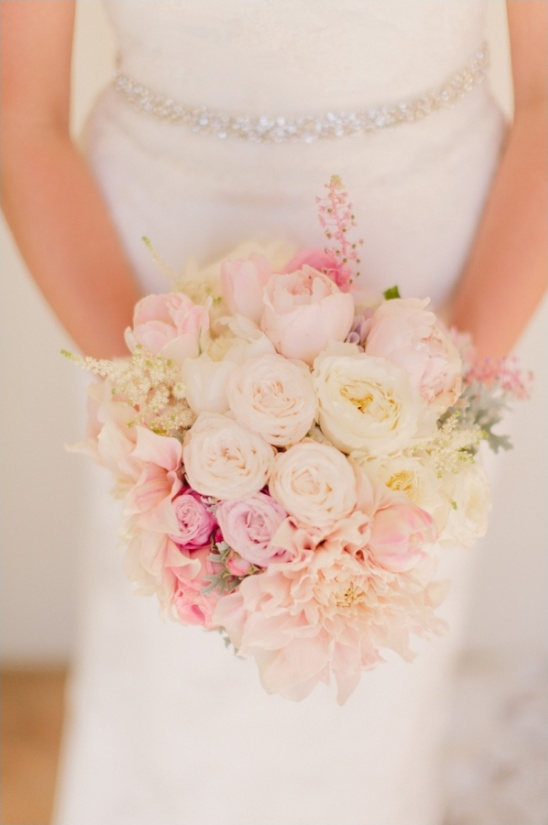 light pink bouquet by isari flower studio