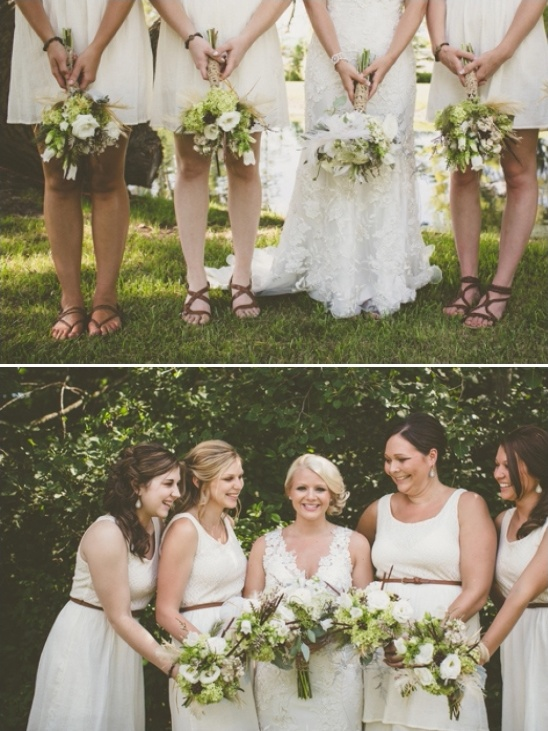 bridesmaid in sandals