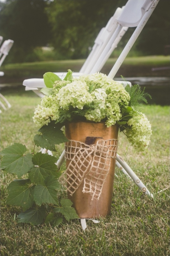 wedding aisle floral arrangement ideas