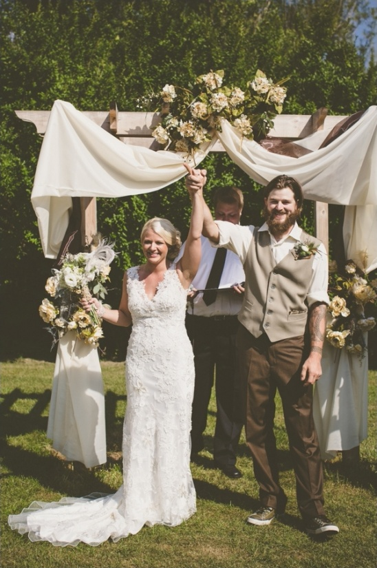 rustic backyard ceremony ideas