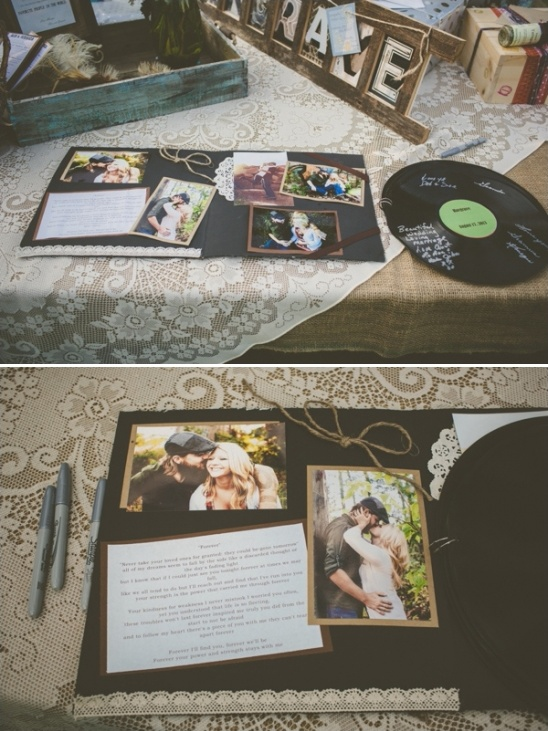 lp album wedding guestbook ideas