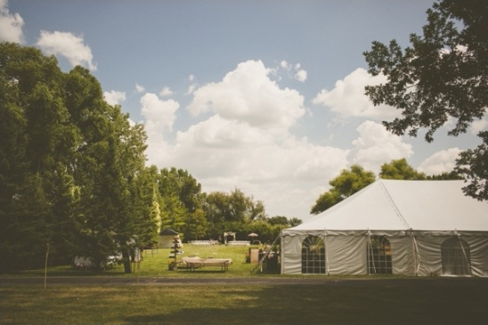 backyard tent wedding reception