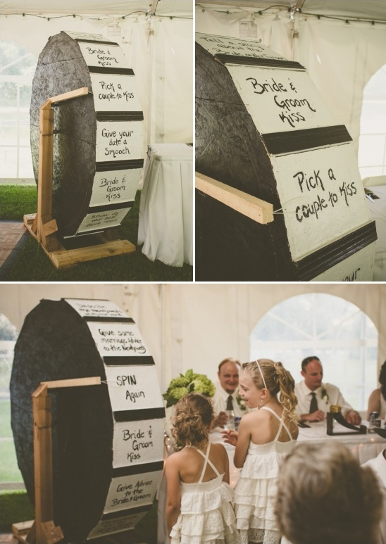 giant wheel wedding game ideas