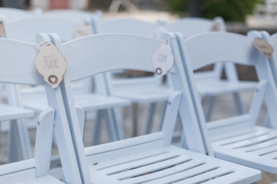 diy ceremony seat labels