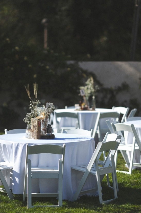 rustic diy reception decor