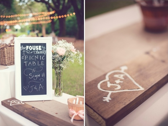 picnic table guest book