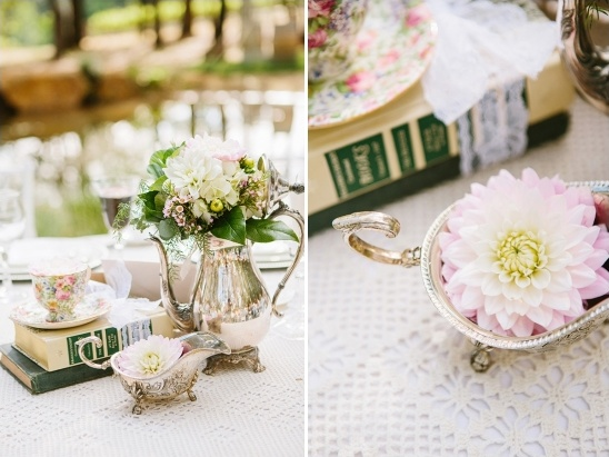 vintage teapot centerpiece ideas