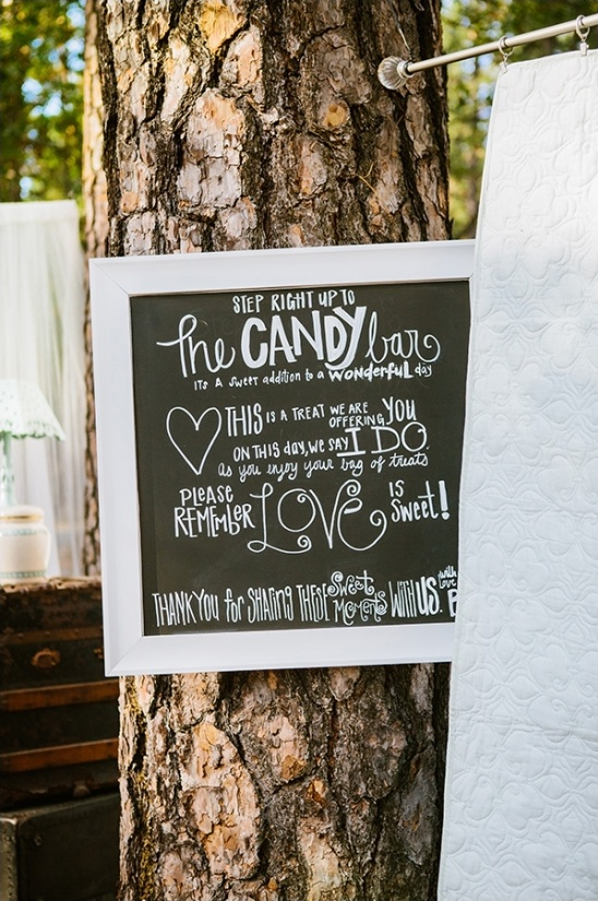 chalkboard candy bar sign