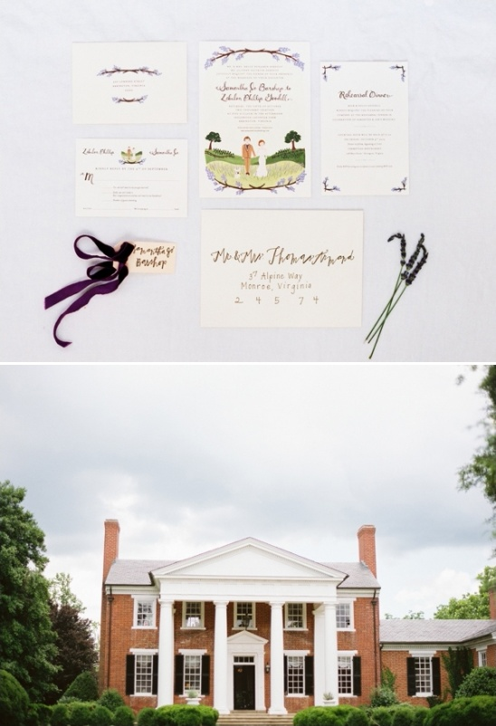 lavender wedding invites
