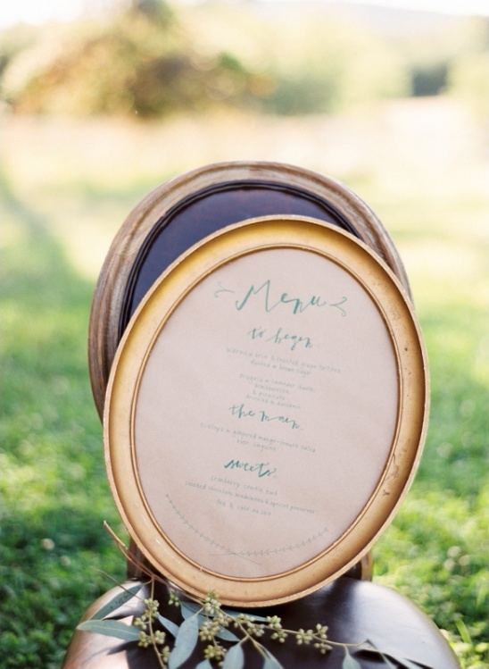 vintage wedding menu ideas