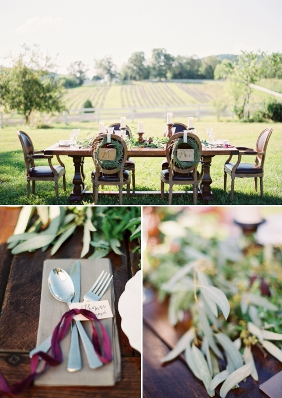 rustic country table setting