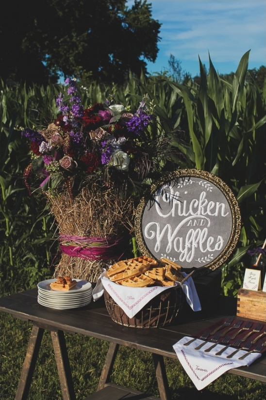 chicken and waffle bar