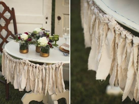 diy fabric fringe wedding decor ideas