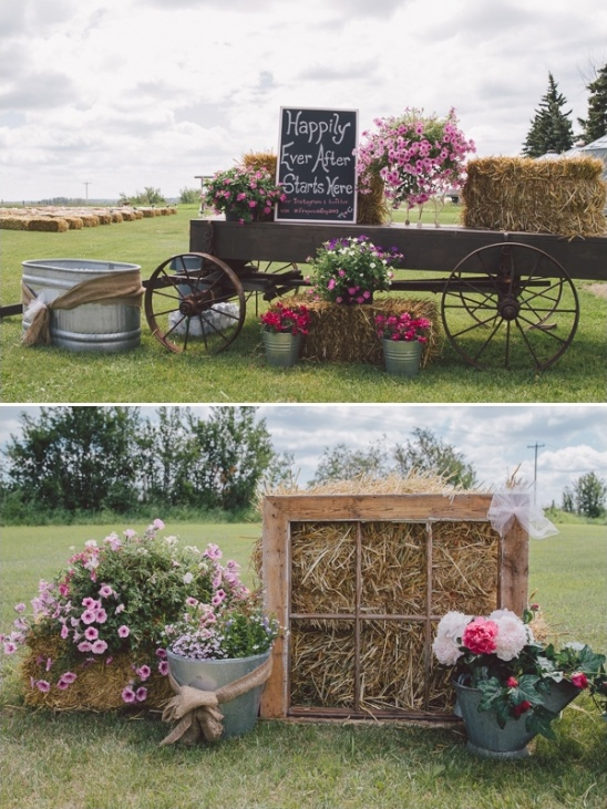 rustic farm wedding ceremony entrance decor