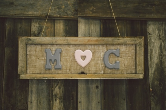 custom burlap bride and groom sign