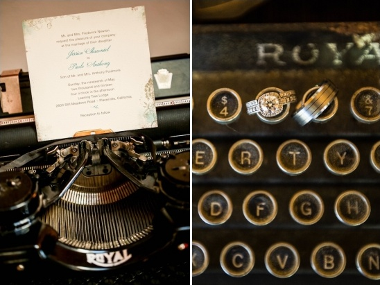 wedding typewriter