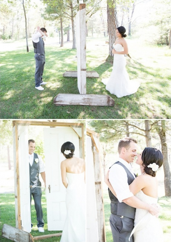 wedding couples firstlook french door