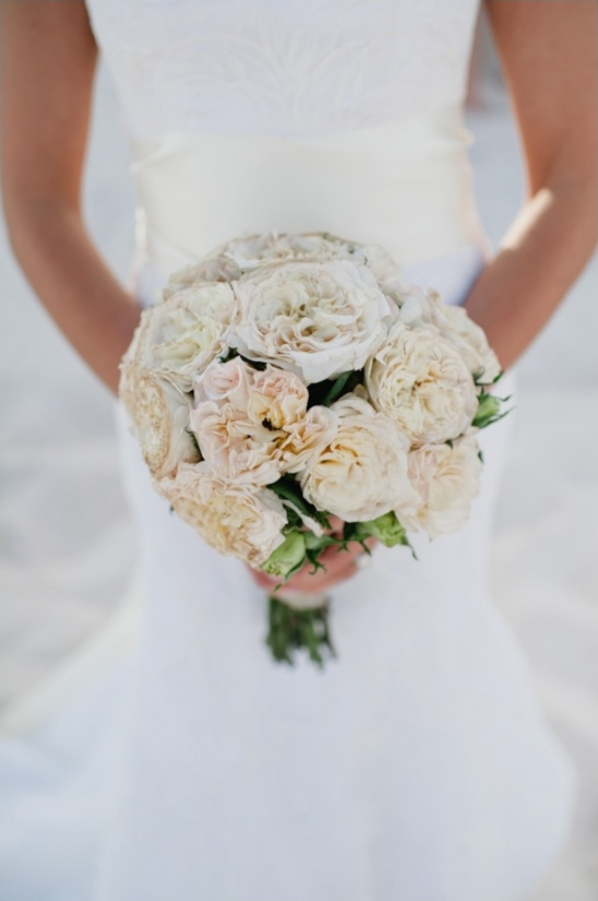 garden rose wedding bouquet by little island design