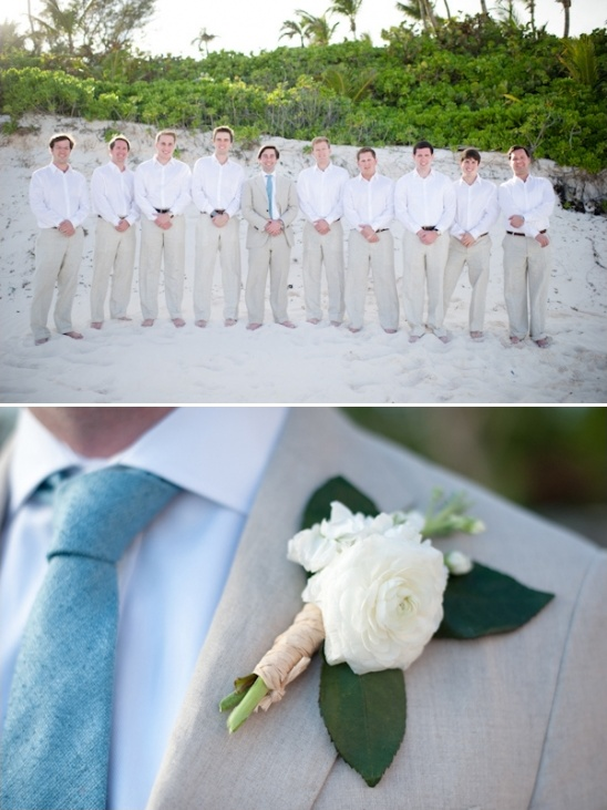 beach wedding groomsman looks