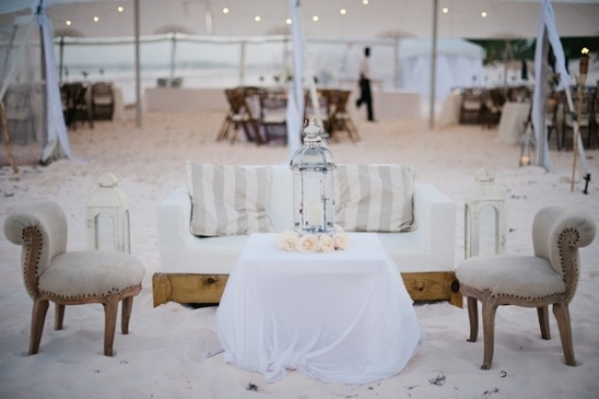 vintage beach wedding lounge