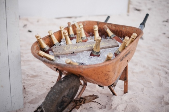 wheelbarrow champagne cooler