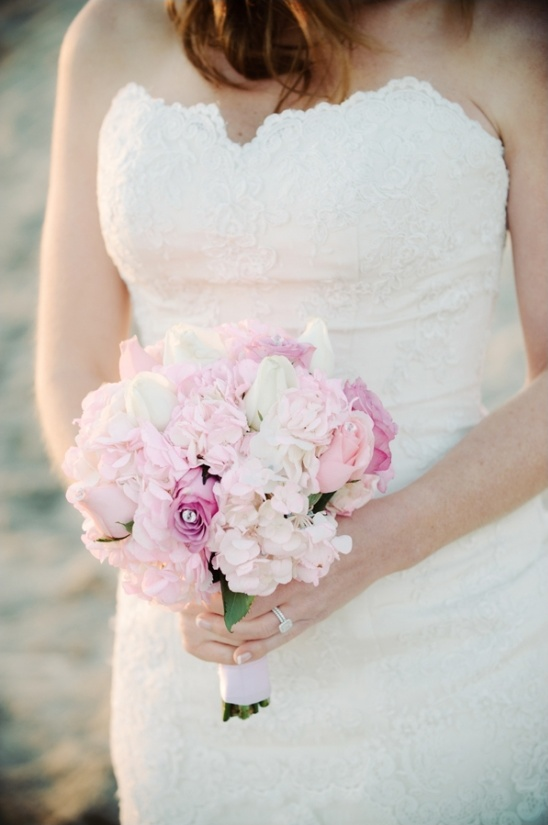 pink and white bridal bouquet by sonia's flowers