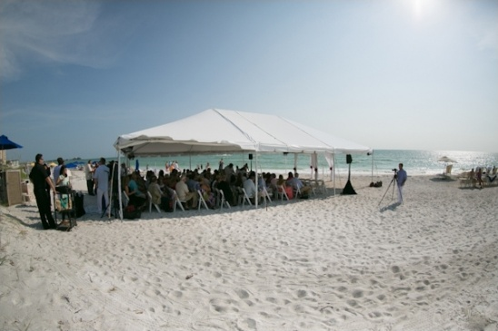 beach wedding ceremoney tent