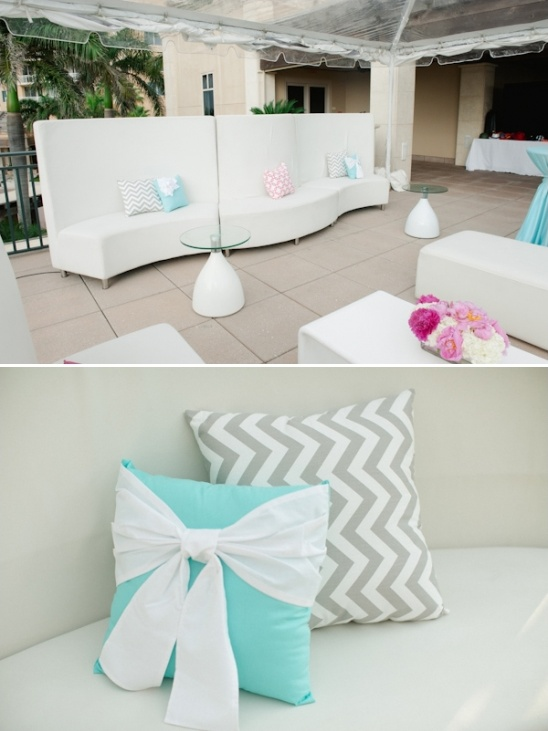 turquoise and chevron pillows